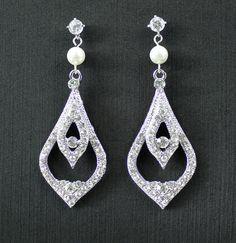 Wedding earrings bridal earrings wedding jewelry vintage