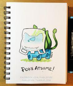 160914 Poke Atsume Bulbasaur by fablefire.deviantart.com on @DeviantArt