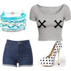 A fashion look from January 2015 featuring grunge t shirts, short shorts and platform stiletto pumps. Browse and shop related looks. Platform Stilettos, Stiletto Pumps, Fashion Looks, Dreams, Shorts, T Shirt, Shopping, Clothing, Supreme T Shirt