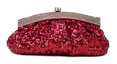 Scarleton Satin Soft Frame Clutch H300610 - Red Clutch Purse, Coin Purse, Vintage Clutch, Retail Therapy, Hand Bags, Best Sellers, Clutches, Wallets, Satin