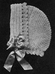 Free vintage crochet pattern: 1916 Baby Bonnet 2