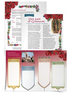 Our Lady of Guadalupe Lesson & Reproducible Activity  #Saints #Catholic #Catholics