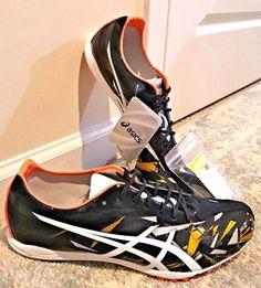 0c1e70b887 Asics Unisex Gun Lap size 11 navy   white NEW running sports spikes shoes  golf +