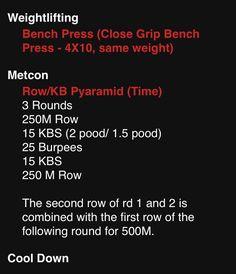 WOD bench press
