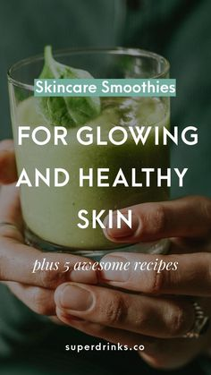 Clear skin seems to be part and parcel of the norms and standards for beauty of our time. Here are our tips and recipes for getting glowing skin with healthy smoothies. skin care Skincare Smoothies for Glowing and Healthy Skin — Superdrinks Healthy Smoothies, Healthy Drinks, Smoothie Recipes, Detox Drinks, Healthy Eating, Juice Recipes, Healthy Recipes, Healthy Foods, Ninja Recipes
