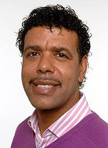 Hairy hero.... Chris Kamara. Middlesbrough born, ex-footballer, ex-manager current tv presenter, football pundit and a bit of a singer too!