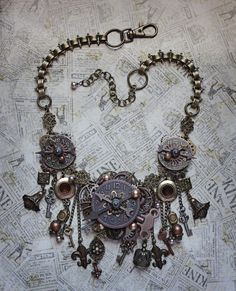 Steampunk Jewelry  Steampunk Necklace  by AngelaVenableArt on Etsy
