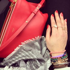 Rings and bracelets with Celine