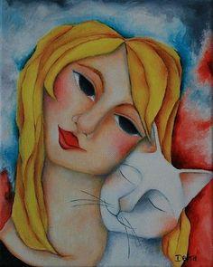 Alice-And-White-Cat.  debharvey