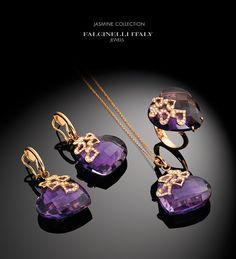 Gold Jewelry Simple, Purple Jewelry, Amethyst Jewelry, Beaded Jewelry, Gold Earrings Designs, Gold Jewellery Design, Amethysts, Pretty Necklaces, Wedding Jewelry