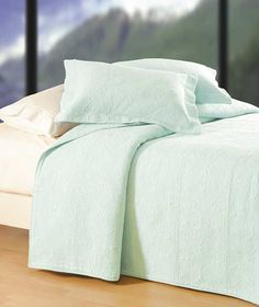 hotel style quilted matelasse aqua quilt coverlet this could be really cool with some - Really Cool Bedding