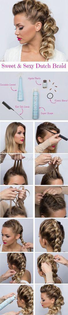 dutch braid hair tutorial