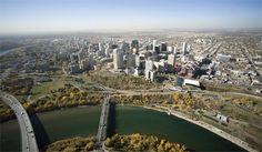 Aerial view of Edmonton, Alberta City Scene, Birds Eye View, Retirement Planning, Aerial View, Montreal, Countryside, Transportation, The Neighbourhood, Canada
