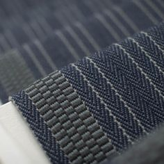 There Borders Collection, Hanbury Midnight is a herringbone ground with narrow contemporary rib texture border in elegant midnight blue tones. Front Door Entrance, Modern Stairs, Elements Of Design, Carpet Stairs, Blue Tones, Fabric Wallpaper, Carpet Runner, Stairways, Midnight Blue