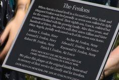 Fenlon Family Unveils Memorial Plaque - Northern Michigan's News Leader