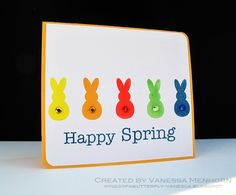Vanessa Menhorn created this super Happy Bunnies in a row card that is sure to make you Smile!