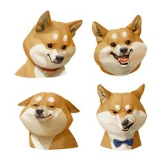 Shiba Dog Art Print by miji lee - X-Small Art And Illustration, Character Illustration, Illustrations, Cartoon Dog, Cartoon Drawings, Animal Drawings, Art Drawings, Cartoon Characters, Cartoon Expression