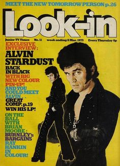 The man in black. 1970s Childhood, Childhood Memories, Brian Moore, 70s Glam Rock, Old Comics, Music Magazines, Tv Times, The Rev, The Good Old Days