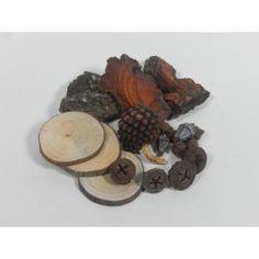 MIX PRODUCTOS RODAJAS/PIÑAS/CORTEZA 400g #natural #madera #materiales #decoración