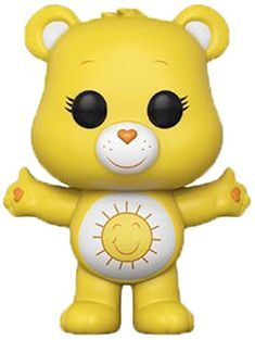 From Care Bears, Funshine Bear (styles may vary), as a stylized POP vinyl from Funko! Figure stands 3 inches and comes in a window display box. Check out the other Care Bears figures from Funko! Funko Pop Dolls, Funko Pop Figures, Pop Vinyl Figures, Funshine Bear, Pop Goes The Weasel, Pop Toys, Cute Stuffed Animals, Bear Wallpaper, Kawaii