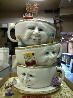 Alise in wonderland, tea party  Cake by Chuchik
