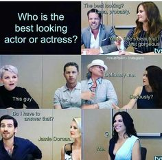 The cast when asked who is the best looking actor or actress. I love their answers!