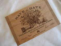 Love love this for save the dates! Love the old fashion charm:)