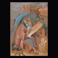 Michael Psellos as a monk. Egg Tempera on wood. Byzantine Art, Byzantine Icons, Orthodox Icons, Tempera, Religious Art, Modern Art, Lion Sculpture, Carving, Statue