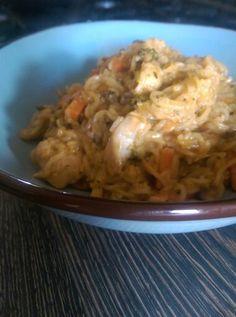 Spicy chicken & noodle casserole