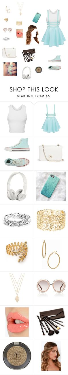 """""""Outfit 114"""" by peacekelli ❤ liked on Polyvore featuring Jonathan Simkhai, Converse, Tory Burch, Beats by Dr. Dre, Charlotte Russe, Gorjana, Bony Levy, Forever 21, Chloé and Charlotte Tilbury"""