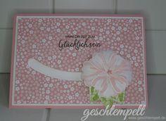 Stampin up, Spinner card, Kullerkarte, Kuller Karte, Anleitung in Bildern, Tutorial, Das blühende Leben, Bunch of Blossoms, Himmelsstürmer, Sliding star