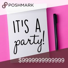 Hosting my first party! Details to come! Date and theme are TBA. Like this listing to get the details when they become available.  In the meantime, I'm on the hunt for host picks (theme dependent), and here are some things I'm especially looking for:  • New (compliant) closets • Closets with no former host picks • Clean / creative covershots • Unique items (vintage and handmade are encouraged!)  Tag someone you think fits one or more of the above, and please spread the word! Other