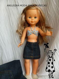 Anilegra moda para muñecas: TUTORIAL y PATRONES FALDA VAQUERA PARA NANCY