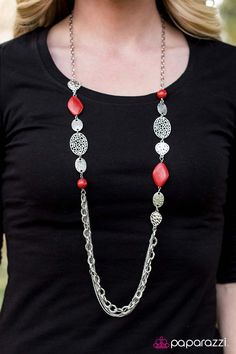 Paparazzi Accessories: Saloon Style - Red
