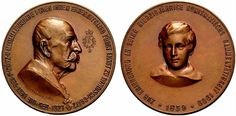 Windisch-Grätz, Ernst von (1827-1918), councellor of state and huge coin collector (universal collection of c. 34,000 items published in 7 vol.) ; medal 1909 by Jauner and Schneider (see also Koch NZ 1971, pl. 16, 54)