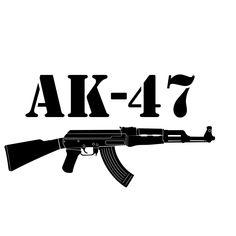 Ak 47, Art Clipart, Vector Art, Ak47 Tattoo, Semi Automatic Rifle, Gangsta Tattoos, Police Officer Gifts, Mobile Legend Wallpaper, Lip Art