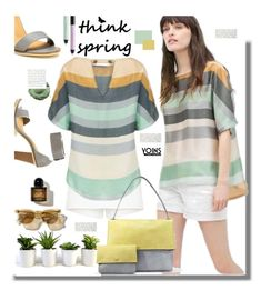 """""""Yoins.com: Think Spring!!"""" by hamaly ❤ liked on Polyvore featuring shu uemura, women's clothing, women, female, woman, misses, juniors, shorts, ootd and blouse"""