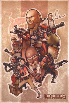 Team Fortress 2 Poster by Ebae.deviantart.com on @deviantART