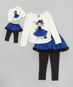 Take a look at this Blue Skirted Leggings Set & Doll Outfit - Girls by Dollie & Me on #zulily today!