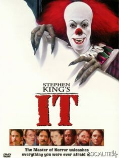 """It (1990) In 1960, seven outcast kids known as """"The Loser Club"""" fight an evil demon who poses as a child-killing clown. 30 years later, they are called back to fight the same clown again. Richard Thomas, Tim Reid, Annette O'Toole...horror"""
