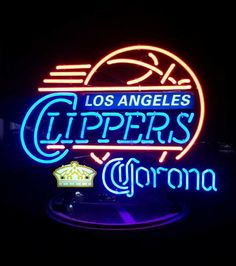 Corona Los Angeles Clippers NBA Sports Neon Sign Real Neon Light
