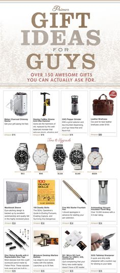 Gift ideas for guys - Over 150 affordable gifts for men