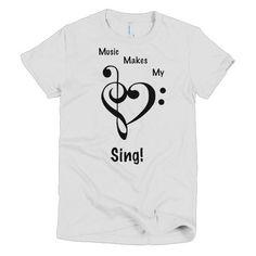 Music Makes My Heart Sing Short sleeve women's t-shirt