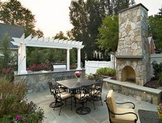 Outdoor Fireplaces and Patio Hardscaping-Los Angeles County Landscaping