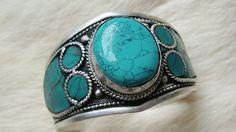 Turquoise bangle Turquoise bracelet Turquoise Cuff by ShopSparrow