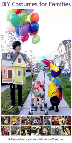Homemade Costumes for Families - a lot of DIY costume ideas!
