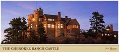 Cherokee Castle & Ranch illuminated at night!!