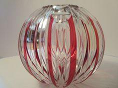 Massive Large Val St.Lambert Art glass bowl/heavy by LesCurieux