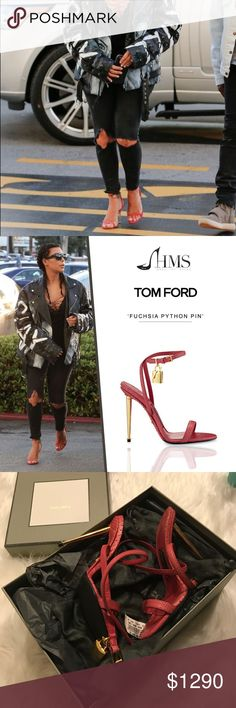 Tom Ford Heels 7 Tom Ford Heels size 7 python fuchsia sold out everywhere. Never worn. Had non slip soles professionally put in and only tried on in home Tom Ford Shoes Sandals