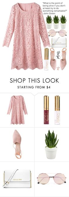 our attitude toward life determines life's attitude towards us by exco on Polyvore featuring moda, Summit, MICHAEL Michael Kors, Sunday Somewhere, Sagebrook Home, clean, organized and rosegal